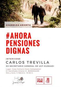 Cartel Asamblea Abierta pensiones Carlos Trevilla