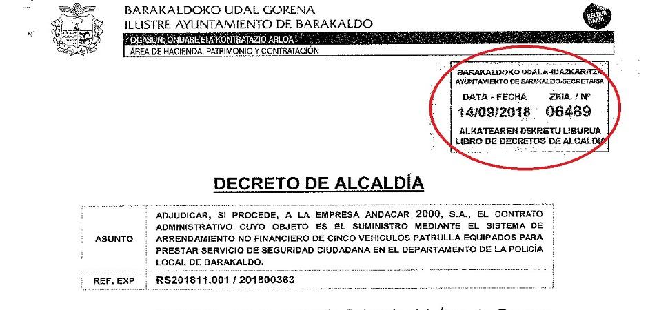 EL GOBIERNO DE AMAIA DEL CAMPO (PNV) MINTIÓ DE FORMA DESCARADA PARA OCULTAR EL RETRASO EN LA ADQUISICIÓN DE LOS NUEVOS COCHES-PATRULLA DE LA POLICÍA LOCAL