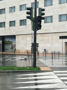 Foto semáforos apagados en la Avenida de la Ribera