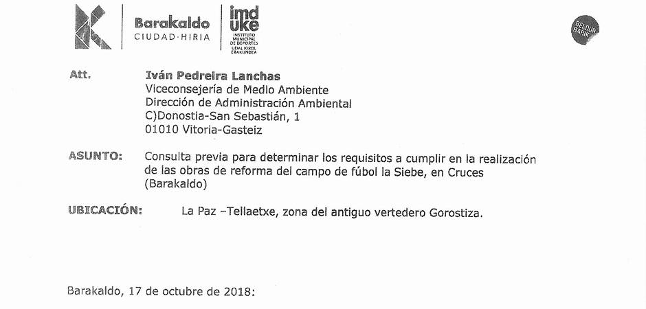 EL GOBIERNO DE AMAIA DEL CAMPO ENGAÑÓ A CLUBES Y USUARIOS/AS SOBRE LA REFORMA DEL CAMPO DE FÚTBOL DE LA SIEBE