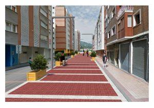 Infografía calle Retuerto semi-peatonal
