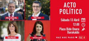 Cartel acto político Barakaldo 13.4.2019
